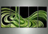 Metal Art 60x24 - Green Abstract
