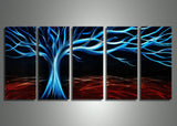Blue Tree Metal Wall Art - 60x24