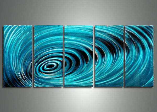 Aluminum Vortex Metal Art - 60x24
