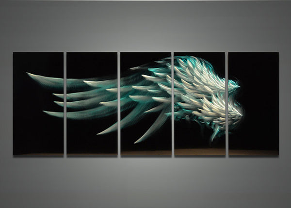 Metal Wall Art Angel Painting 60x24