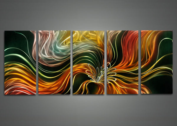 Abstract Metal Floral Wall Art 60 x 24in