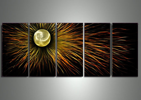 Sun Metal Wall Artwork 60x24in