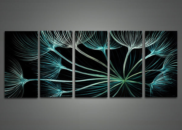 Abstract Flower Metal Art Painting 60 x 24in