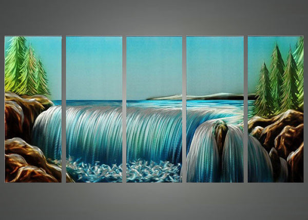 Niagara Waterfalls Painting 60x24in