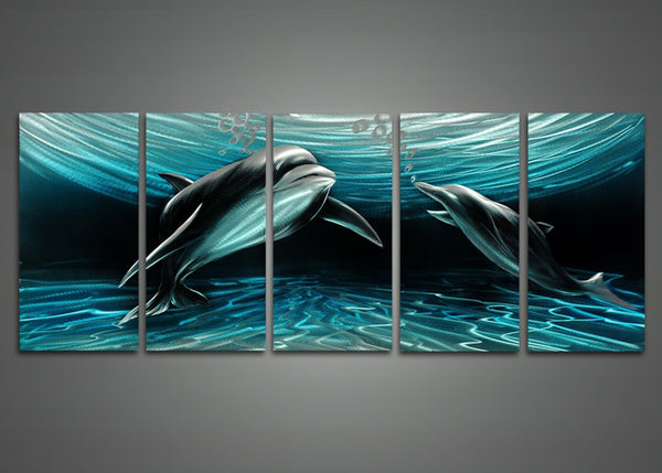 Dolphins Art Painting 60 x 24in