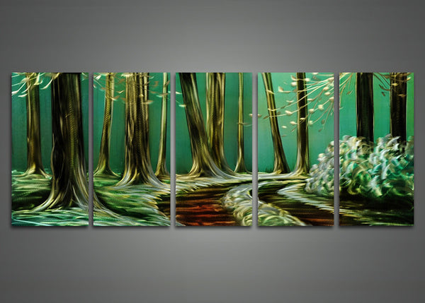 Modern Tree Metal Wall Art Painting 60 x 24in