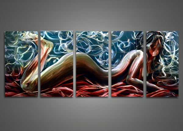 Sensual Metal Wall Art Painting 60x24in