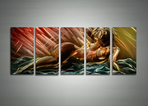 Modern Sensual Metal Wall Art 60 x 24in