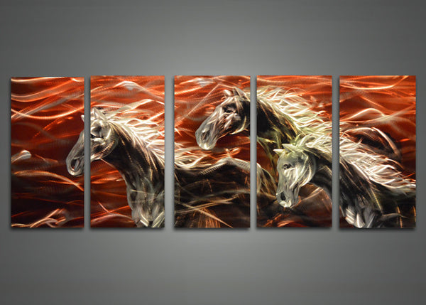 Horse Metal Wall Art Painting 60 x 24in