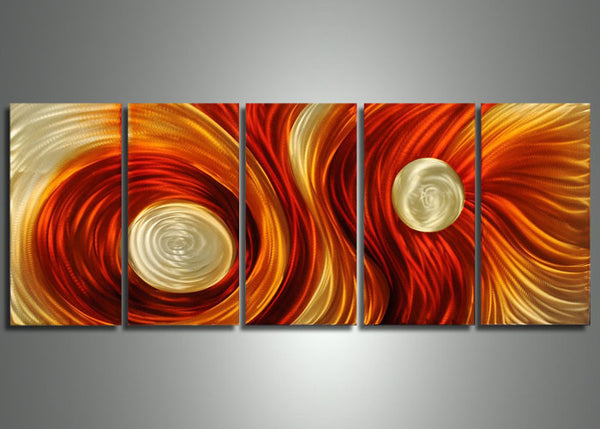 Multi Panels Metal Art Painting - 60x24