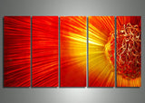 Fireball Sun Metal Art Painting - 60x24