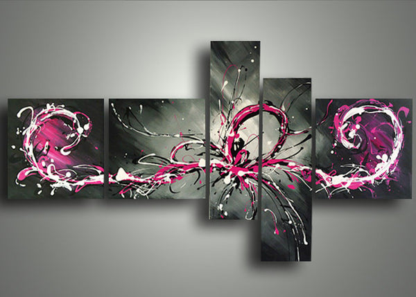 New Series - Painting 806 Pink - 64x32in