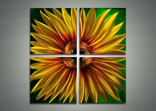 Yellow Flower Metal Wall Art - 32x32in