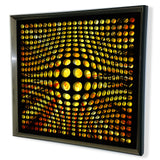 Modern Black Tinted Mirror - Acrylic Vortex Mirror - Yellow shade Background