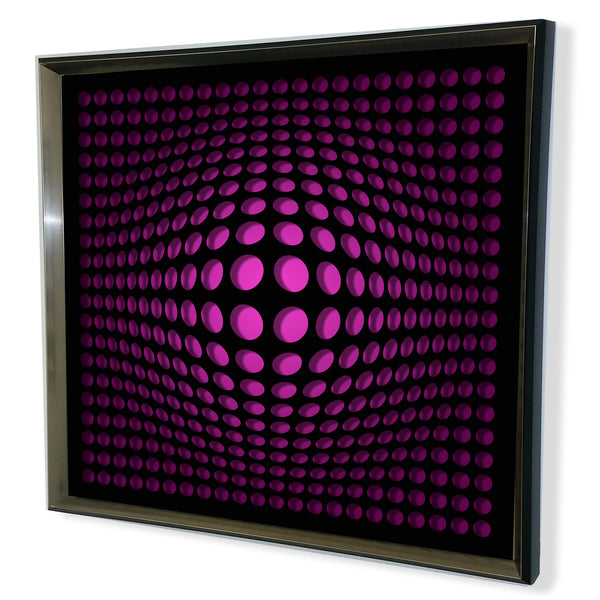 Modern Black Tinted Mirror - Acrylic Vortex Mirror - Red 32x32""