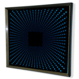 Modern Black Tinted Mirror -Sunburst- Framed 3D Acrylic Mirror Art -Purple 32x32""