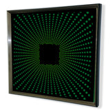 Red Tiented Acrylic Mirror - Modern Sphere 3D effectYellow 32x32""