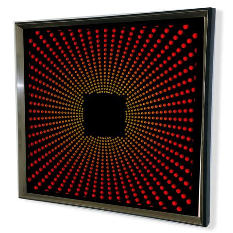 Modern Framed Acrylic Mirror - 3D HexagonePurple 32x32""
