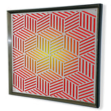 Modern Sphere 3D Mirror - Red Tinted Mirror - Green 32x32""