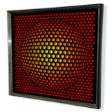 Modern Sphere 3D Mirror - Black Tinted Mirror - Red 32x32""
