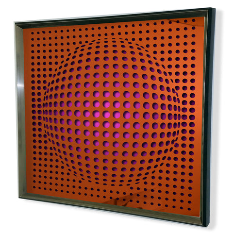 Modern Sphere 3D Mirror - Red Tinted Mirror - Purple 32x32""