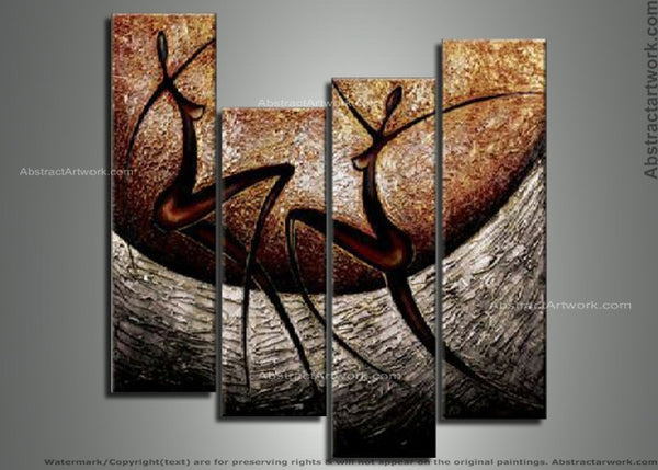 African Multi Panels Painting 132 - 40x24in