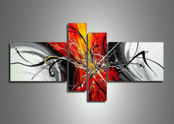 Extra Large Orange Abstract Art XXL164 - 92 x 48in
