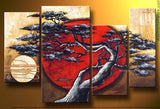 Large Japanese Tree Oil Painting 179 - 40x32in