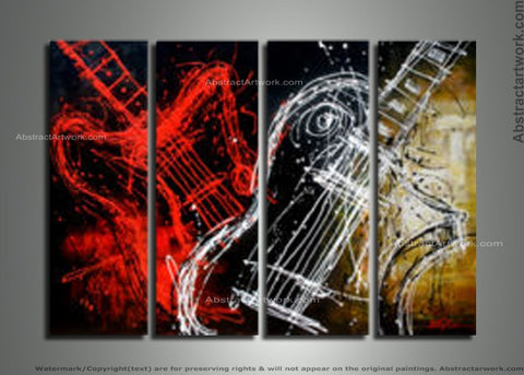 Large Music Art Painting 181 - 96x48in