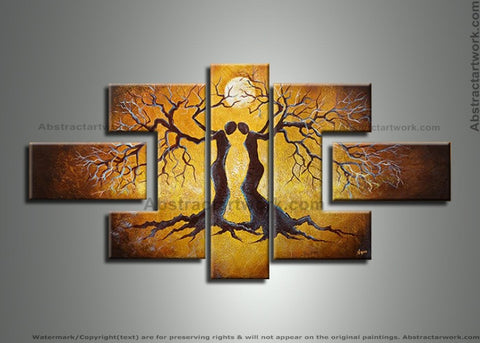 Human Tree Painting 218 - 68x30in
