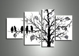 Black & White Nature Painting 221 - 50x30in