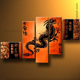 Orange Dragon Art Painting 235 - 58x38in
