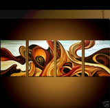 Abstract 4 Panels Artwork 252 - 64x20in