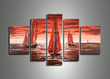 Sea Painting Red - Seascape 256 - 56x35in