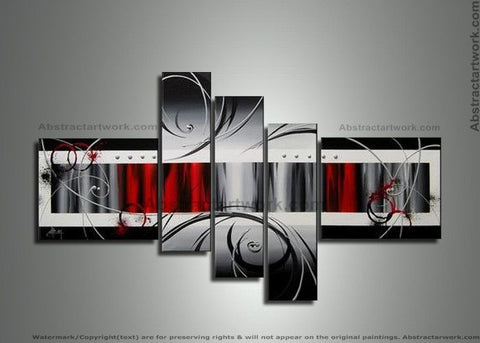5 Panels Canvas Art Painting 259 - 64x32in