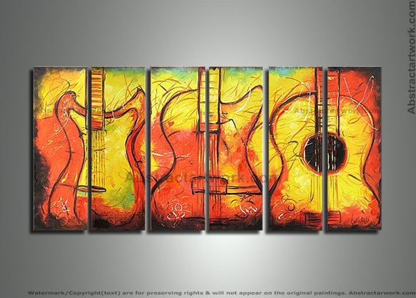 Music Art Painting 260 - 70x28in