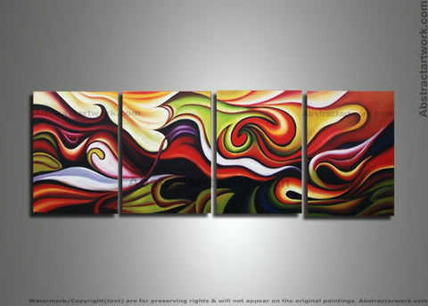 Contemporary Abstract Painting 265 - 64x20in