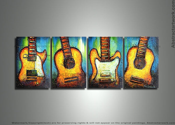 Modern Violin Wall Artwork 282 - 62x20in