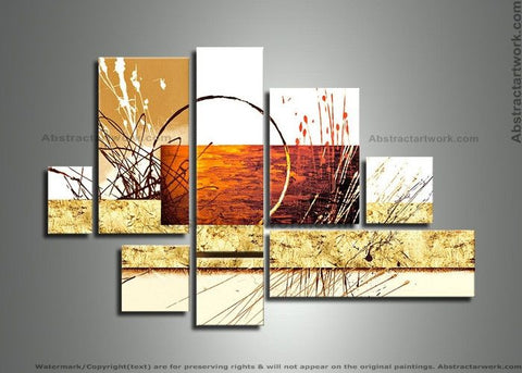Abstract Art Painting - 8 Panels 295 - 57x36in