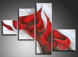 Flower Art Painting Red 302 -44x28in