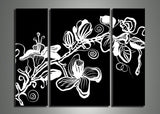 White Flower Art Painting 322 - 38x30in