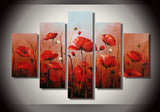 Modern Red Rose Painting 363 - 60x40in