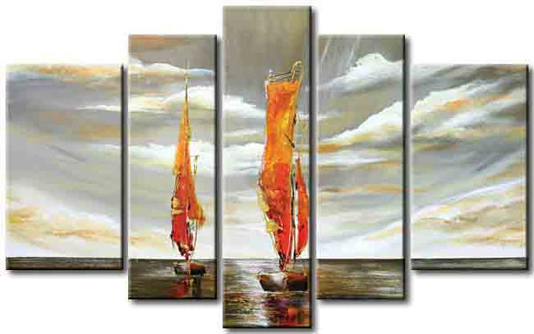 Sailing Boat Painting 366 - 57x36in