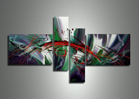 Green Abstract Art Painting  378 - 58x36in