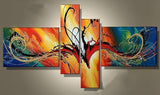 Modern Abstract Art Painting 385 - 64x34in