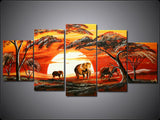 African Forest Painting 395 - 60x34in