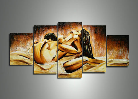 Merveilleux Multi Panel Sensual Wall Art Painting 402   60x32in