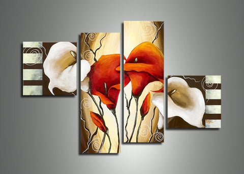 Modern Floral Art Painting - 416 - 56x32in