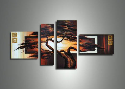 African Tree Art Painting 418 - 55x32in