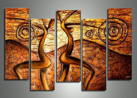 African Textured Art Painting 424 - 60x32in